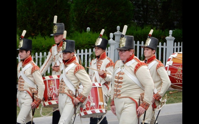 Historic Fife and Drum Band Passing By