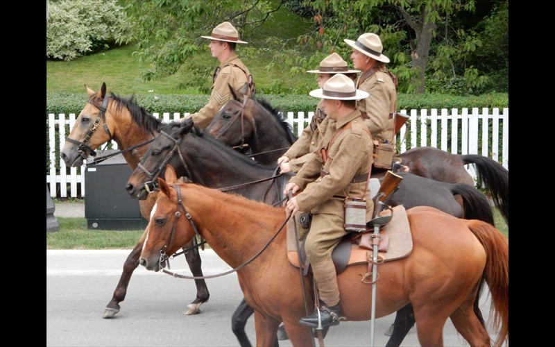 WWI Cavalry Parade Passing By